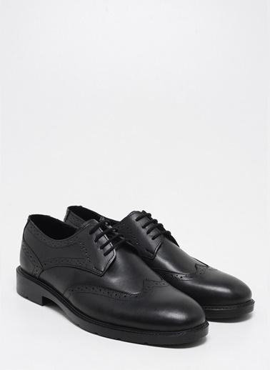 F By Fabrika Fabrika Sentetik Ve Deri Karışımlı Bağcıklı Seremer Erkek Ayakkabı Siyah